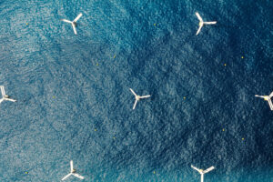 SeaTwirl S2 Windfarm from above